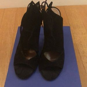 Aquazzura Pasadena in black suede